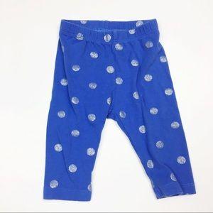 Baby Gap Print Stretch Jersey Leggings 0-3M Blue